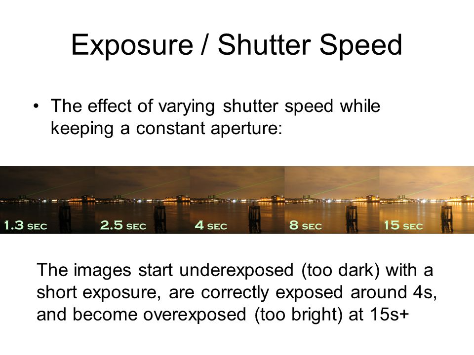 Exposure / Shutter Speed