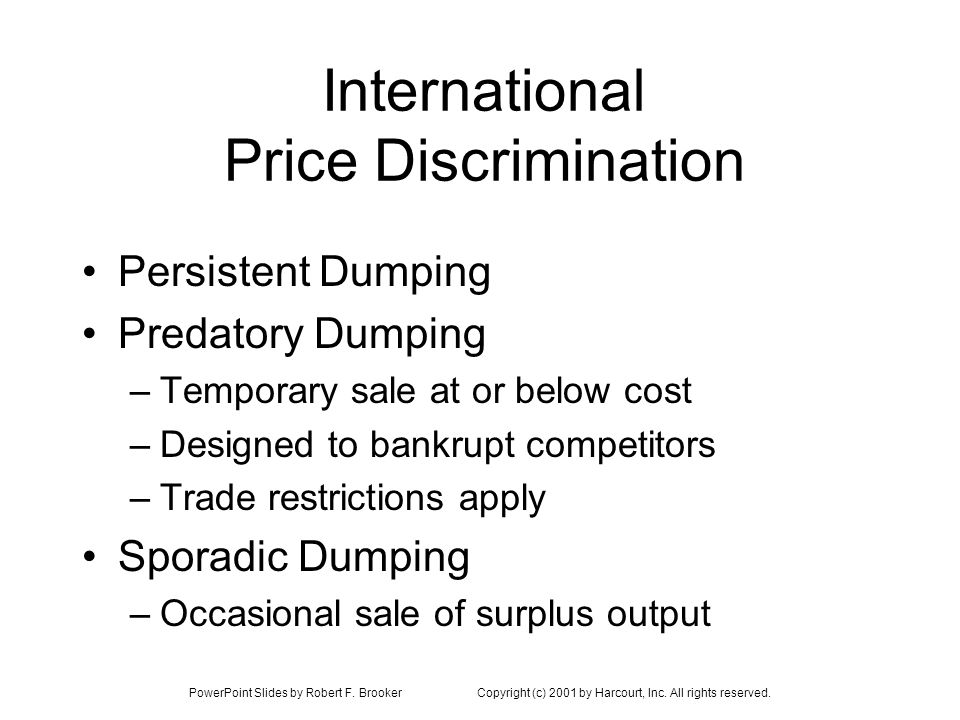 International Price Discrimination