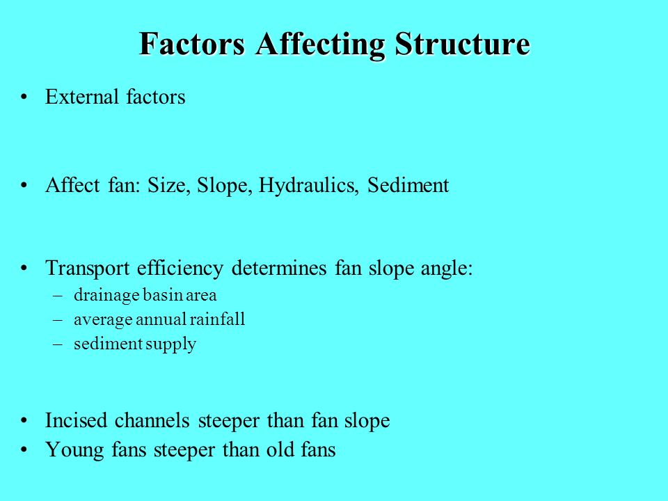 Factors Affecting Structure