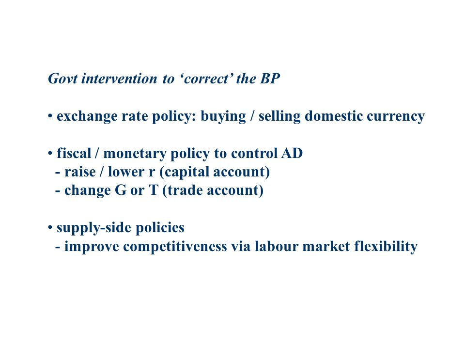 Govt intervention to 'correct' the BP