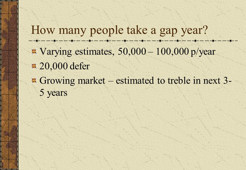 How many people take a gap year