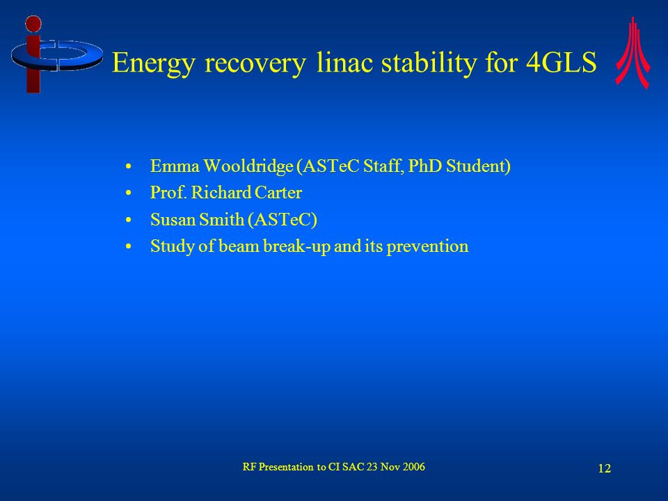 Energy recovery linac stability for 4GLS