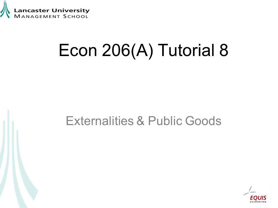 Externalities & Public Goods