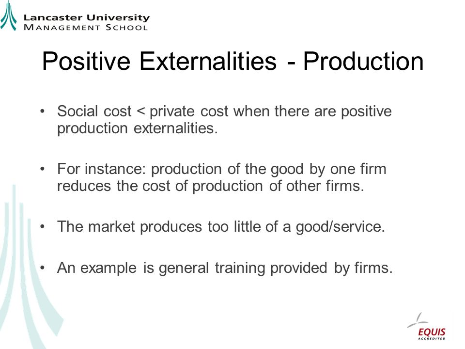 Positive Externalities - Production