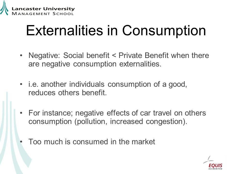 Externalities in Consumption