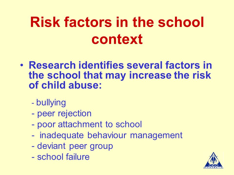 factors that increase deviant behaviour in school Media influence on deviant behavior in middle school students and is there a correlation between an increase in media presentations of sex and violence to children, and an increase in public tolerance or the thesis also provides an overview of other factors identified in a review of relevant literature.
