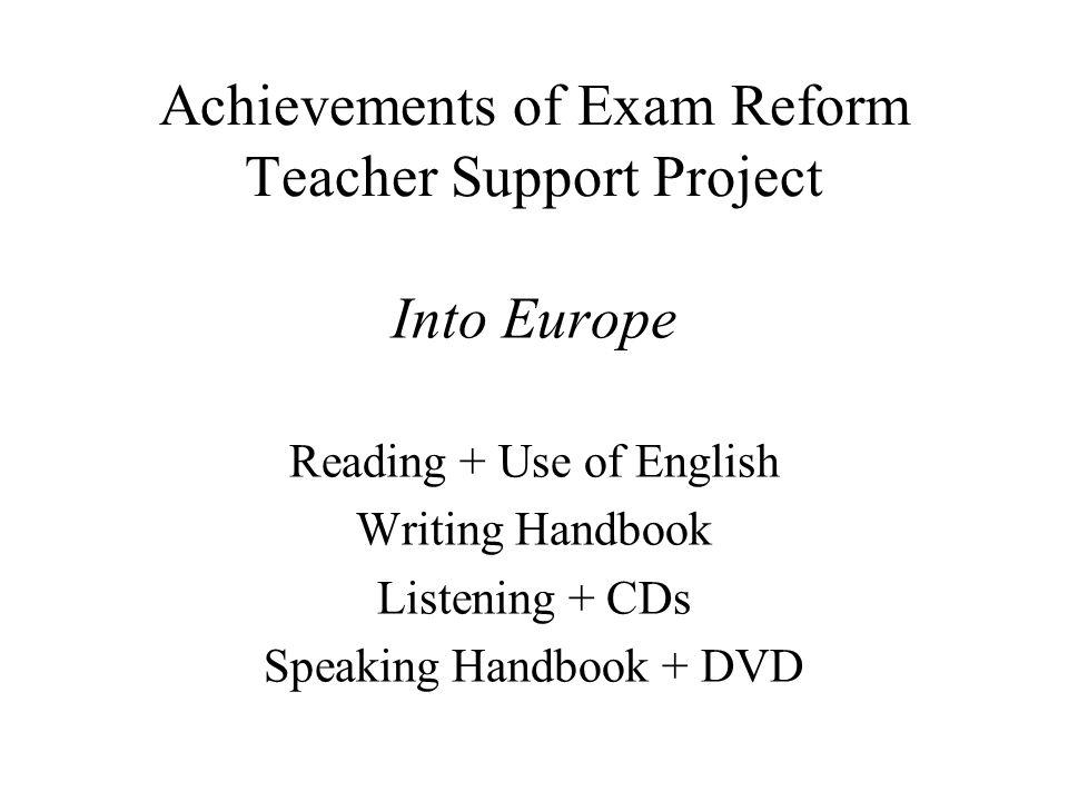 Achievements of Exam Reform Teacher Support Project