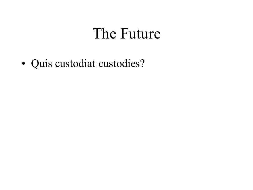 The Future Quis custodiat custodies