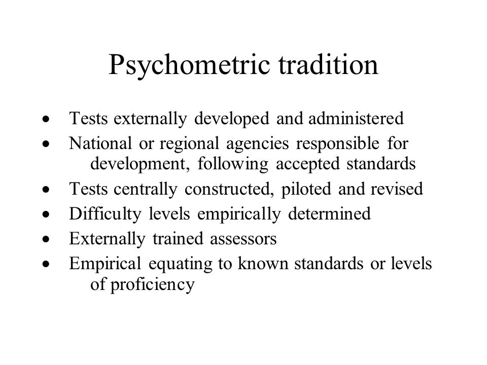 Psychometric tradition