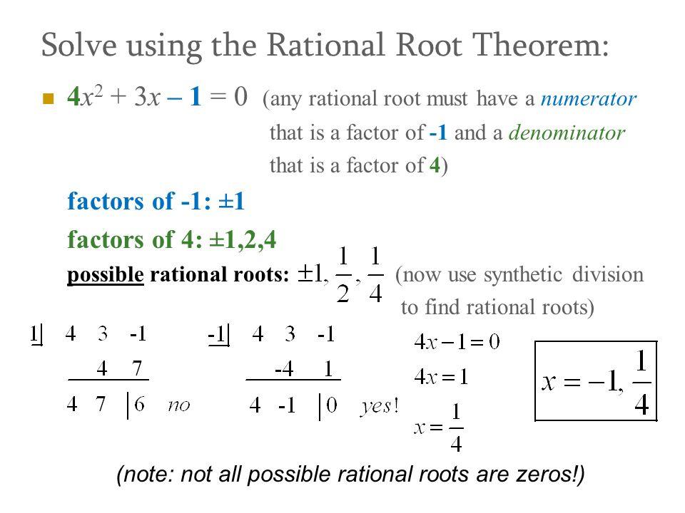 factor theorem rational root theorem ppt video online download. Black Bedroom Furniture Sets. Home Design Ideas