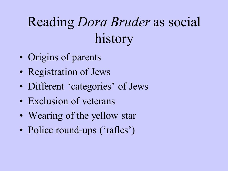 Reading Dora Bruder as social history