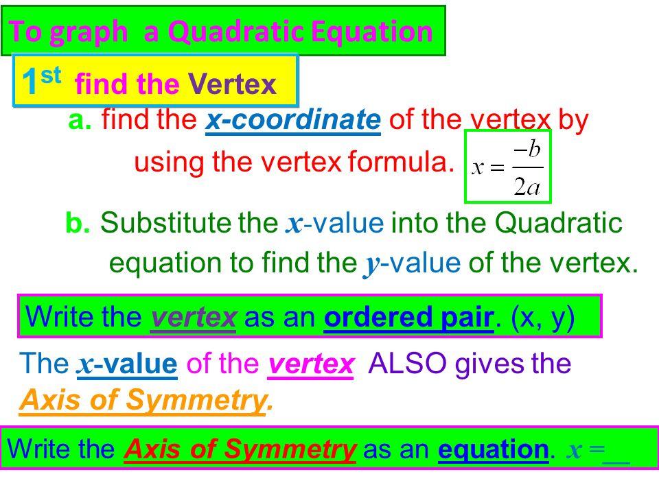 how to put quadratic equation into vertex form