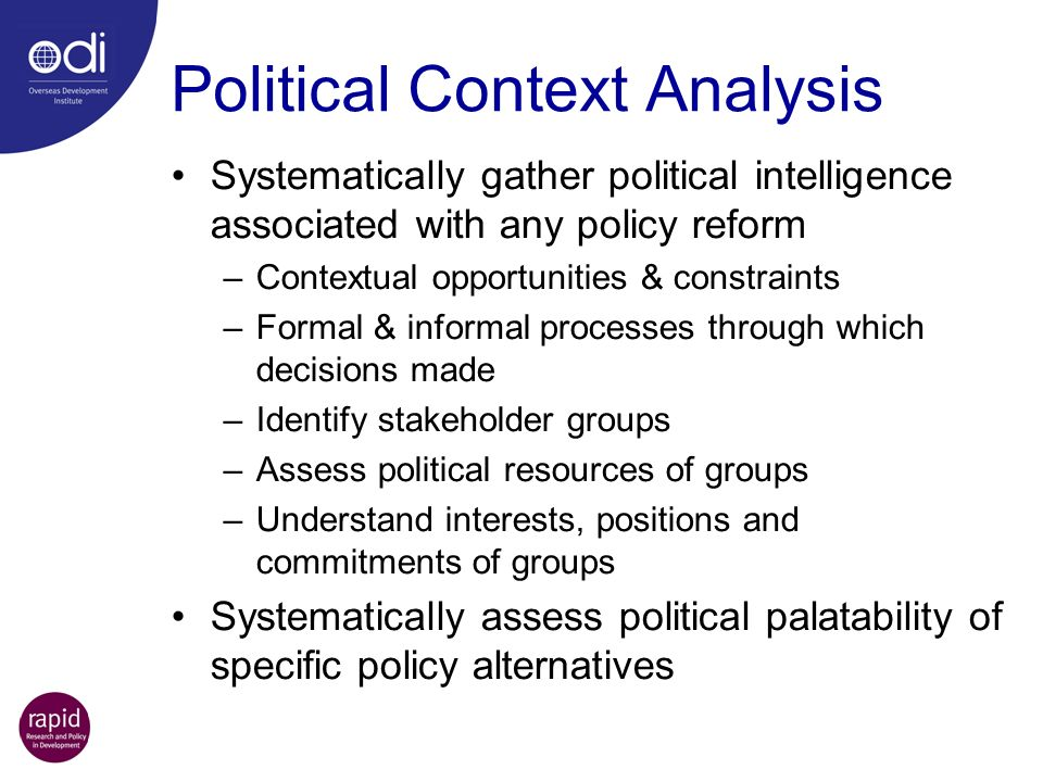 Political Context Analysis