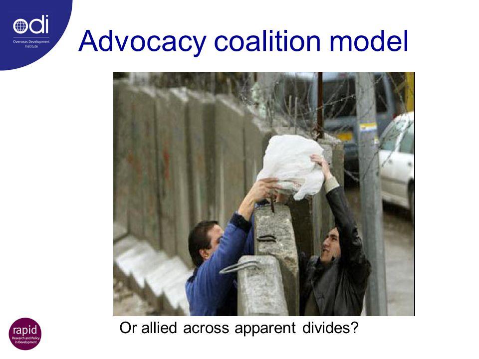 Advocacy coalition model