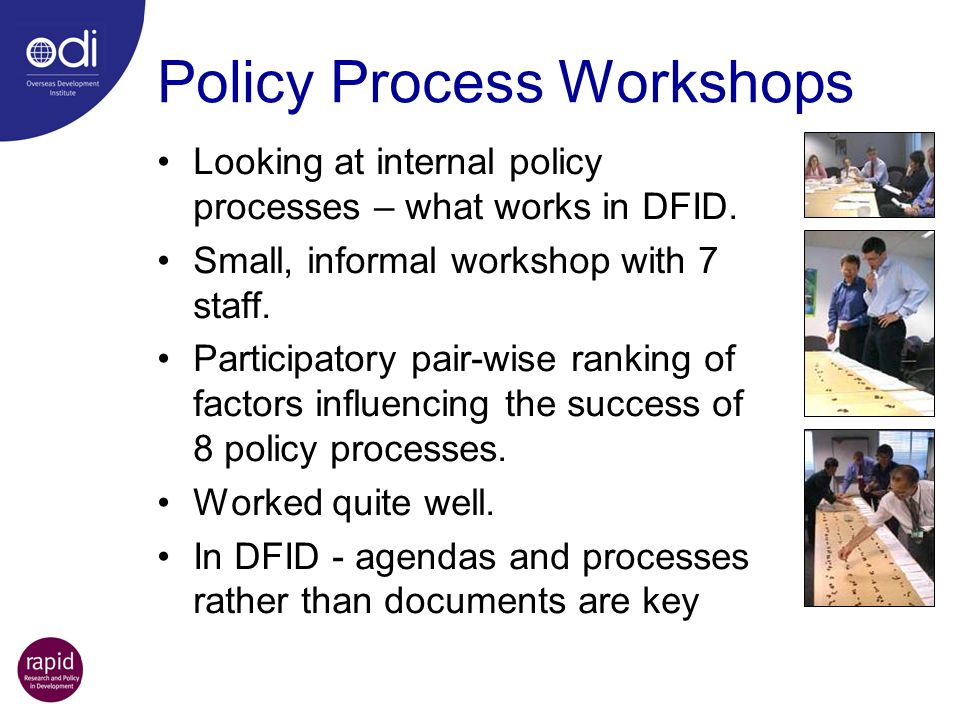 Policy Process Workshops
