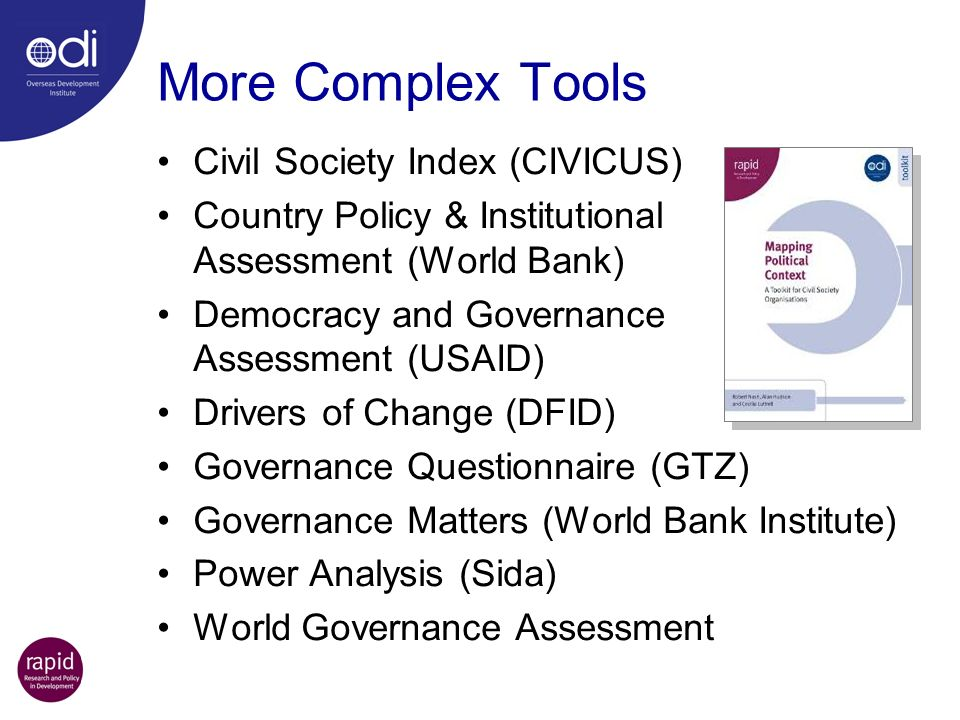 More Complex Tools Civil Society Index (CIVICUS)