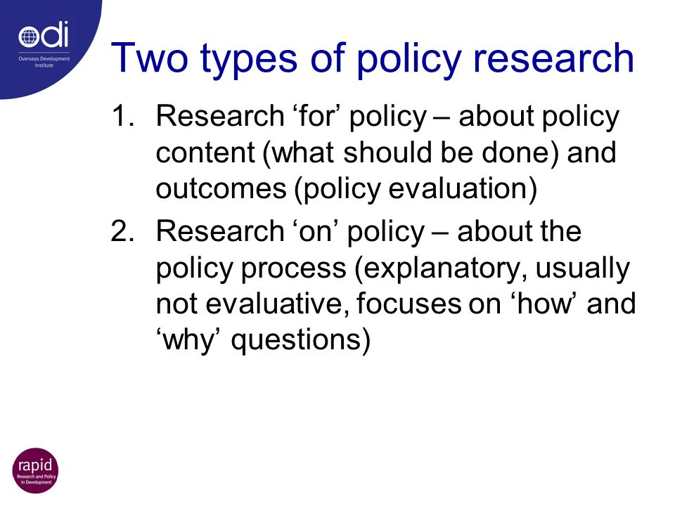 Two types of policy research