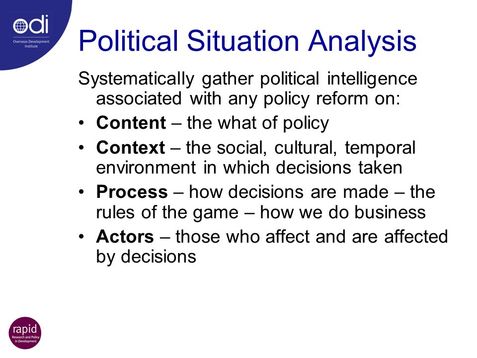 Political Situation Analysis