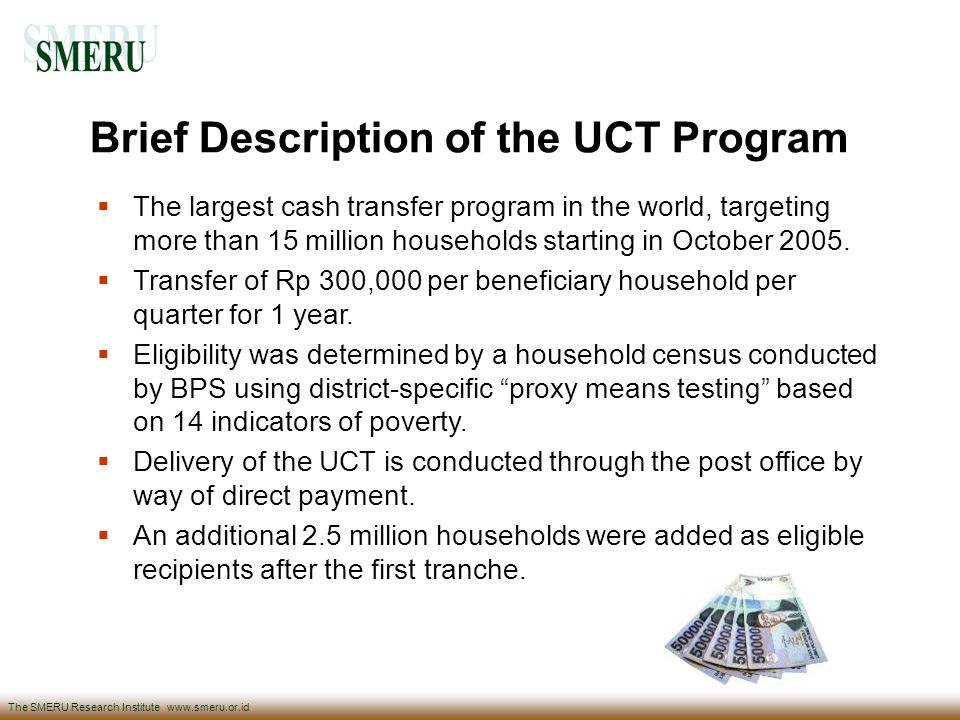 Brief Description of the UCT Program