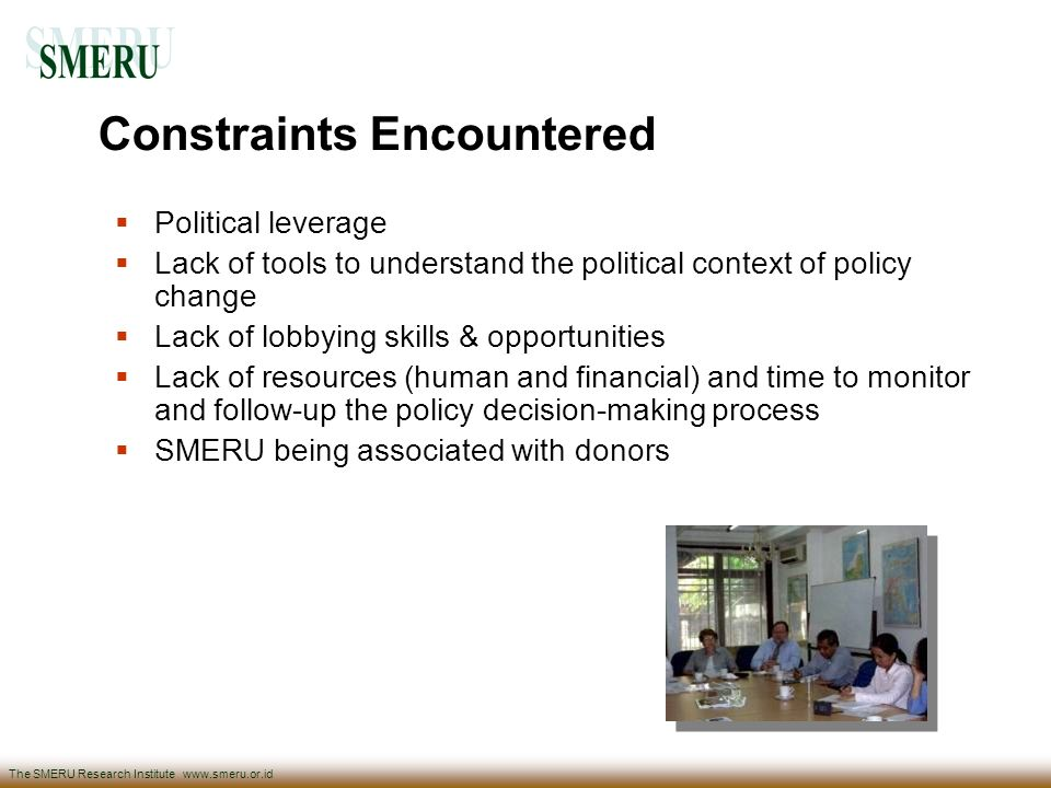 Constraints Encountered