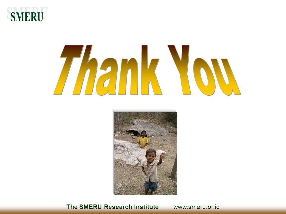 The SMERU Research Institute www.smeru.or.id