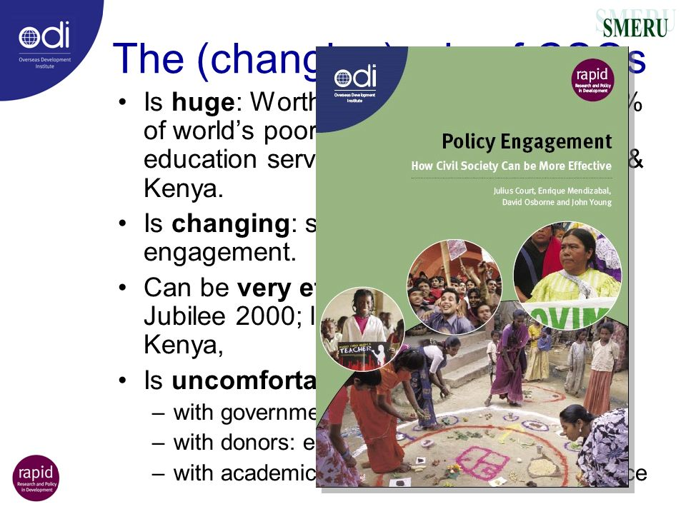 The (changing) role of CSOs