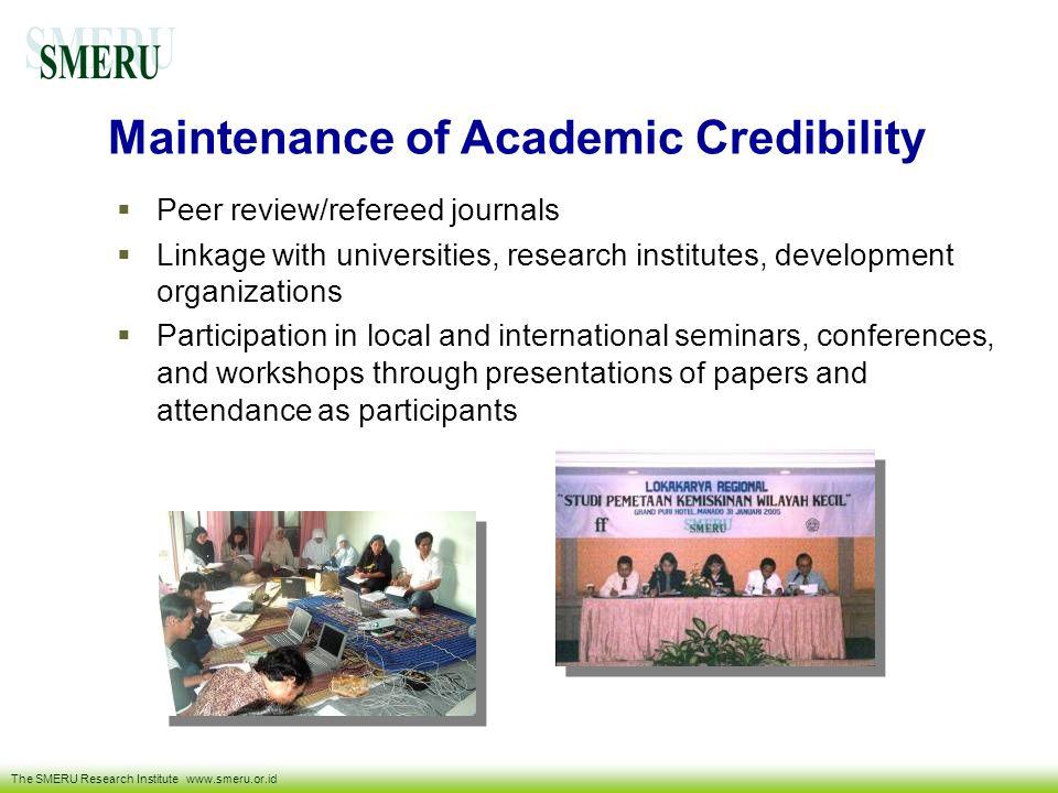 Maintenance of Academic Credibility