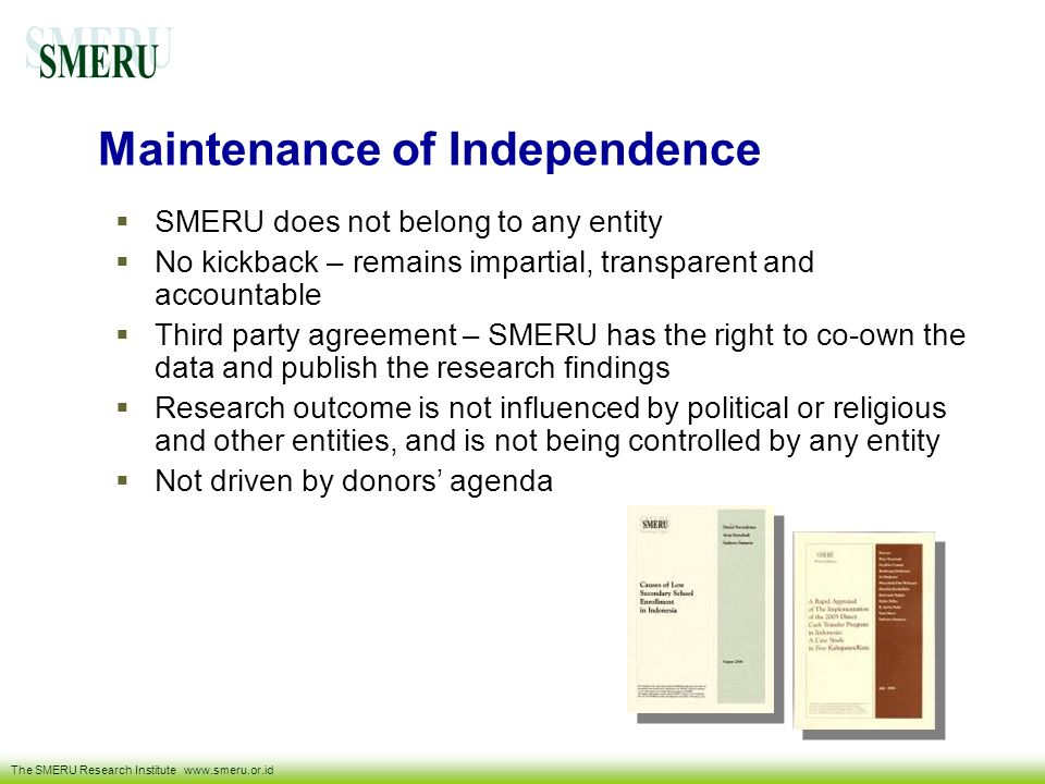 Maintenance of Independence