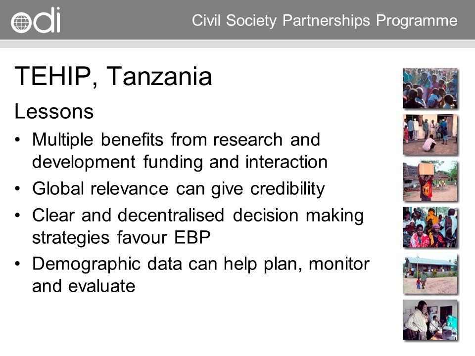 TEHIP, Tanzania Lessons