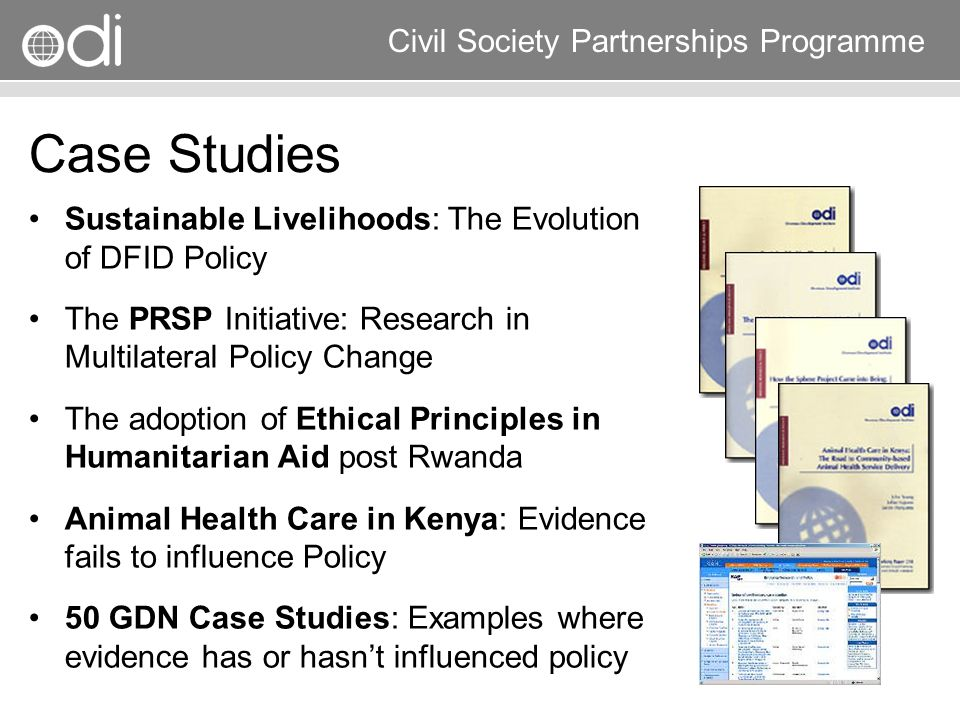 Case Studies Sustainable Livelihoods: The Evolution of DFID Policy