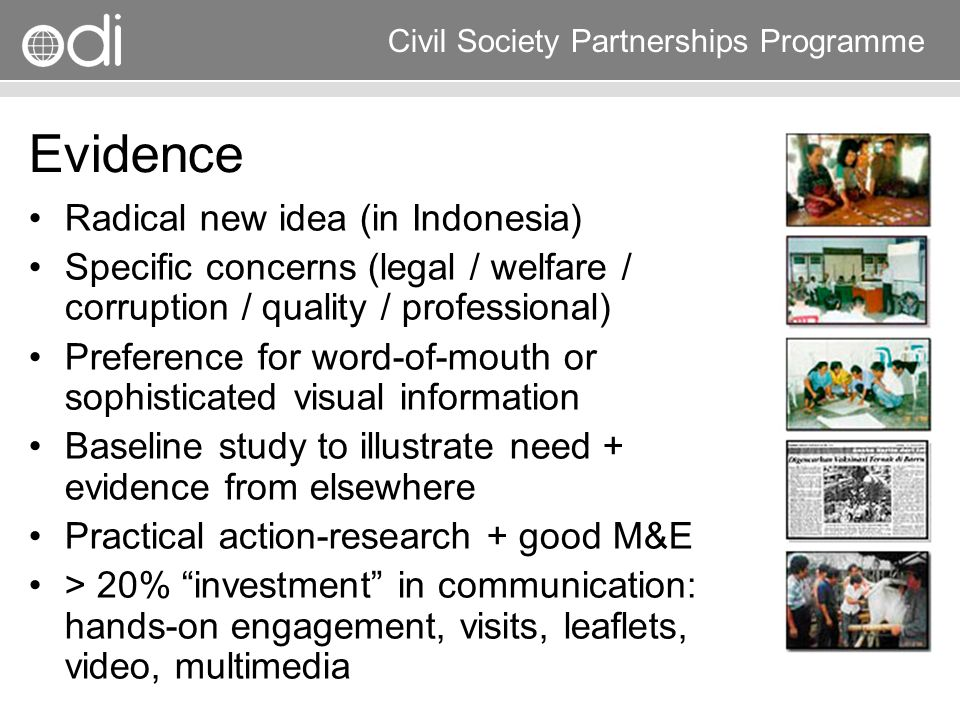 Evidence Radical new idea (in Indonesia)