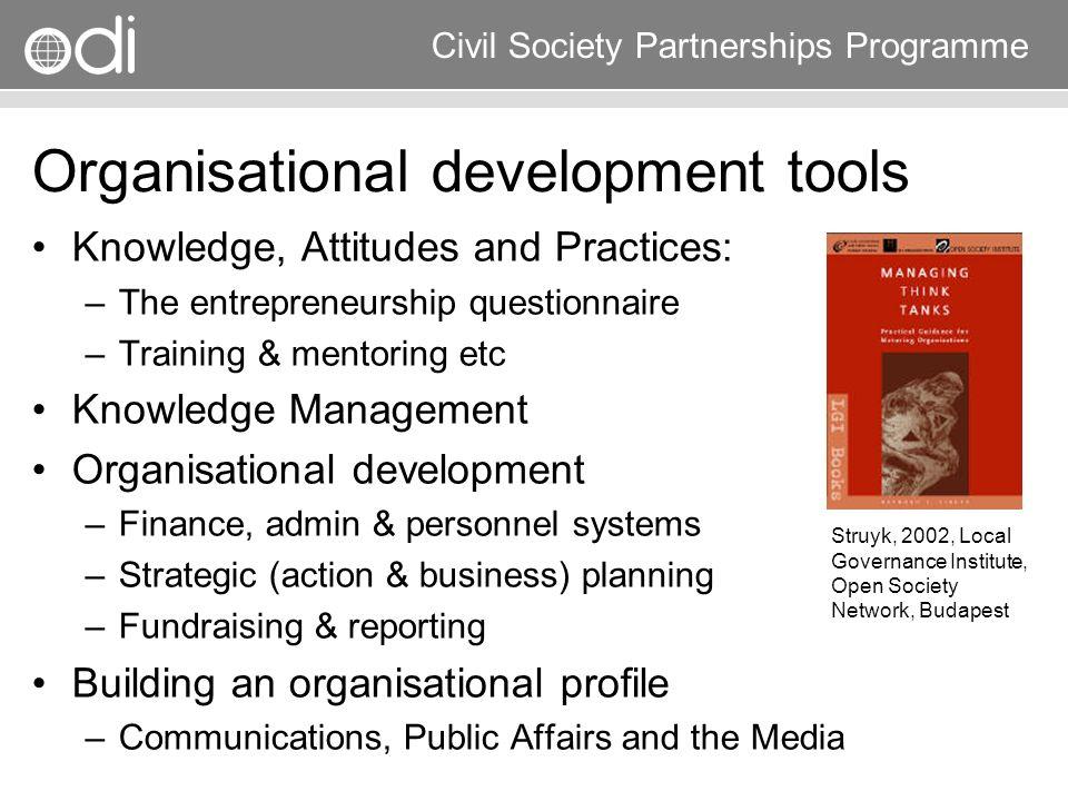 Organisational development tools