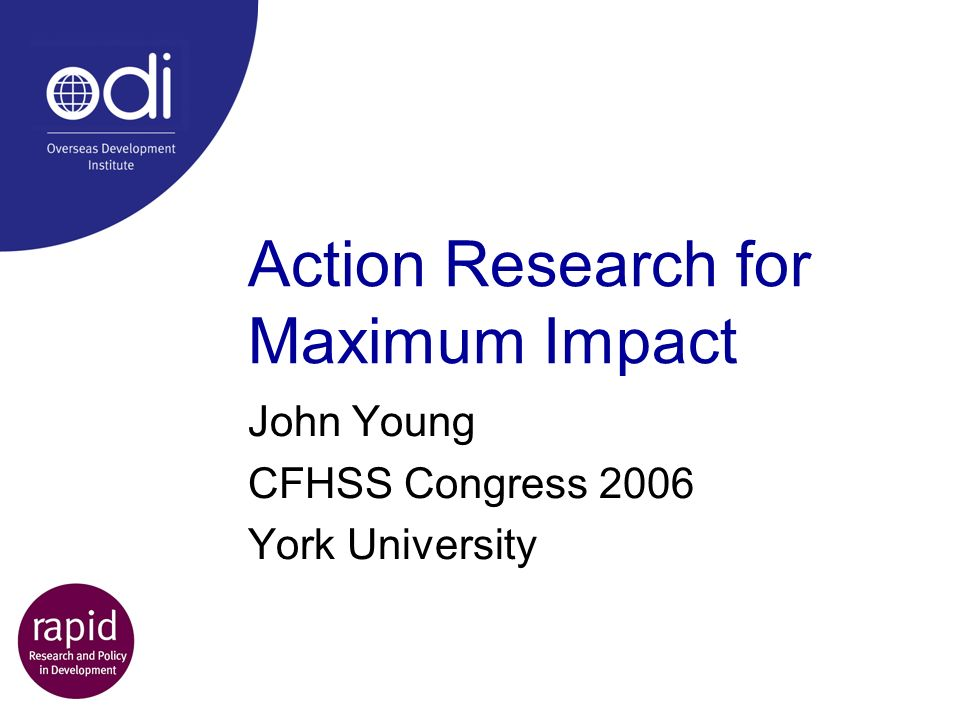 Action Research for Maximum Impact