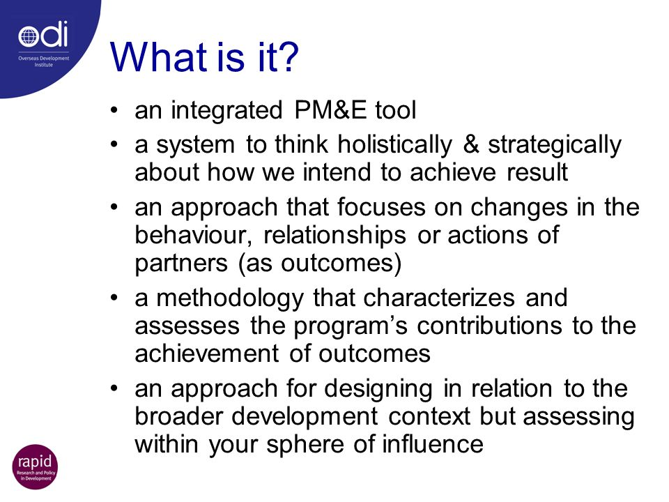 What is it an integrated PM&E tool