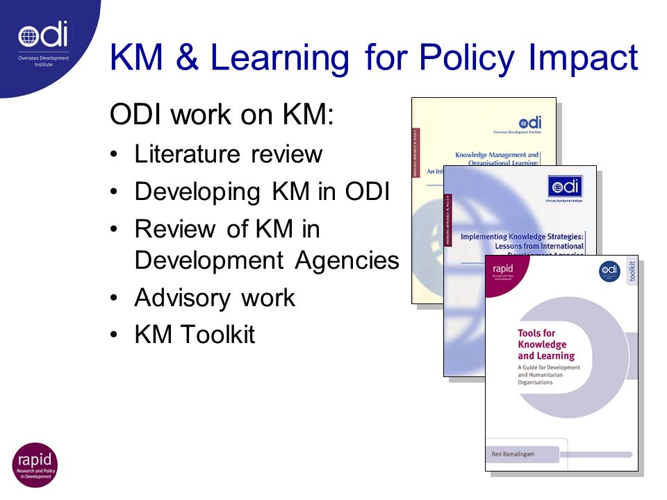 KM & Learning for Policy Impact