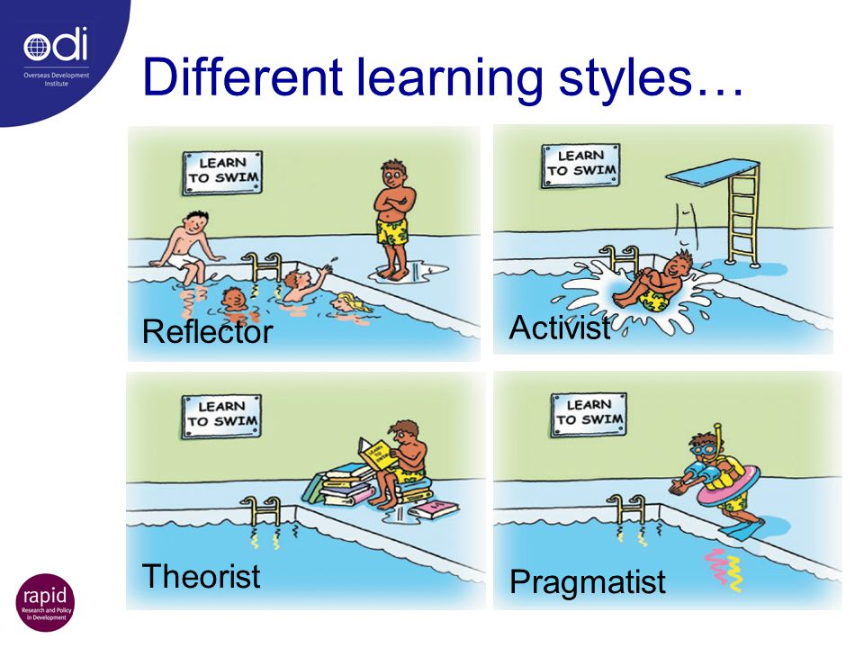 Different learning styles…