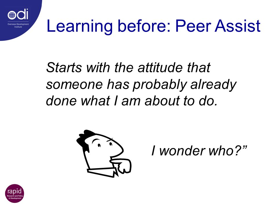 Learning before: Peer Assist