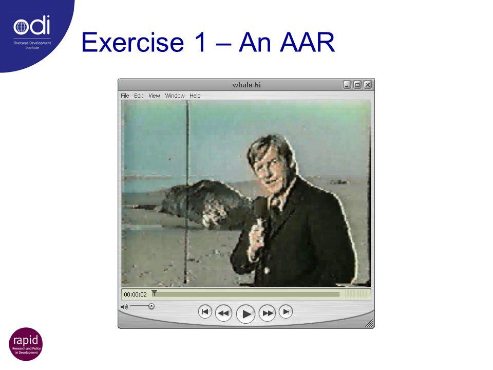 Exercise 1 – An AAR