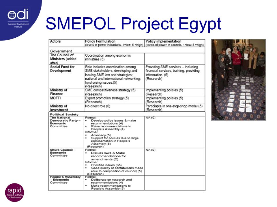 SMEPOL Project Egypt