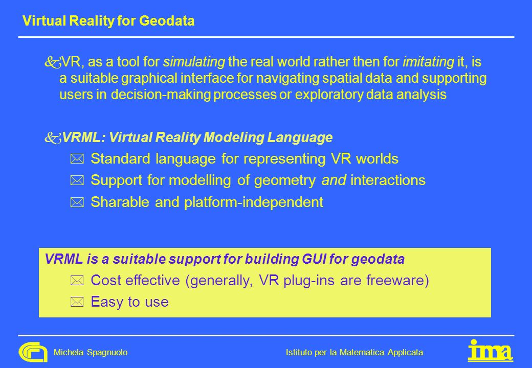 Virtual Reality for Geodata
