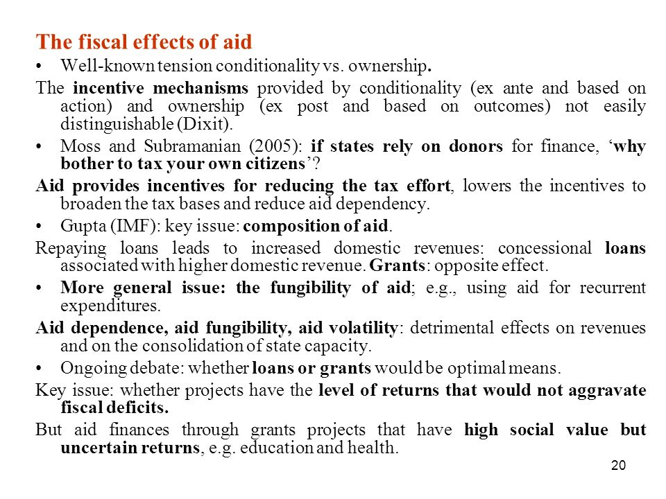 The fiscal effects of aid