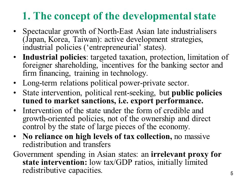 1. The concept of the developmental state