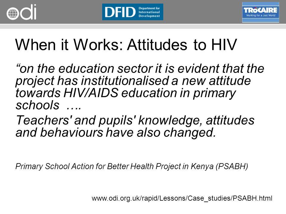 When it Works: Attitudes to HIV