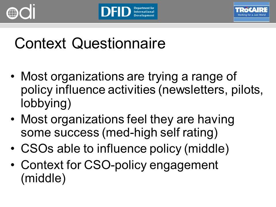Context Questionnaire