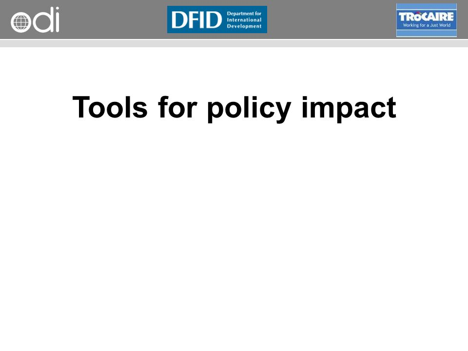Tools for policy impact