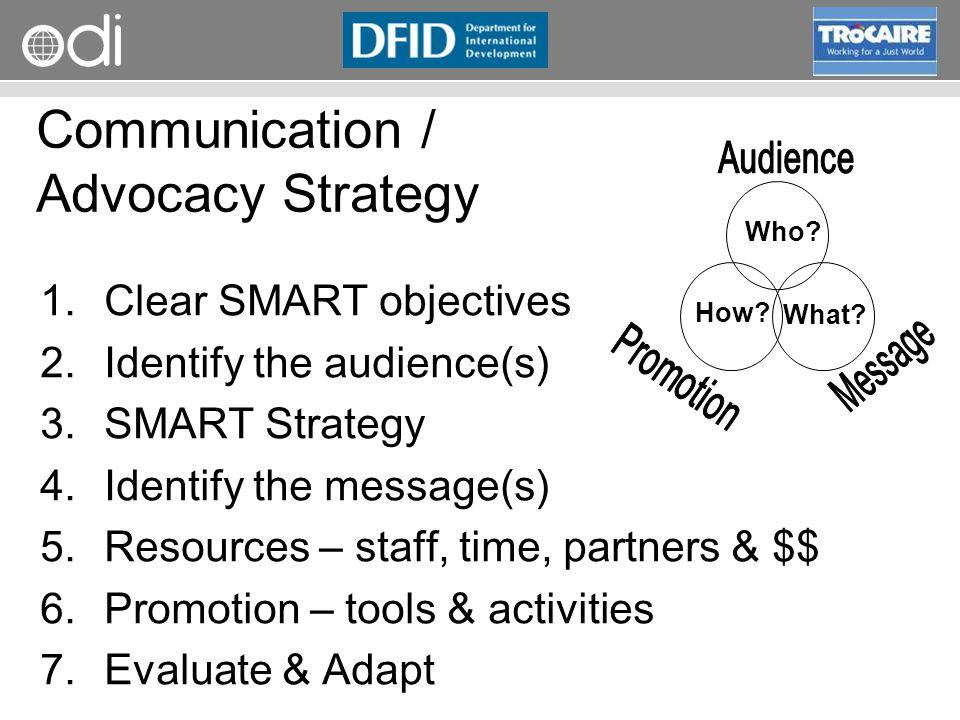 Communication / Advocacy Strategy