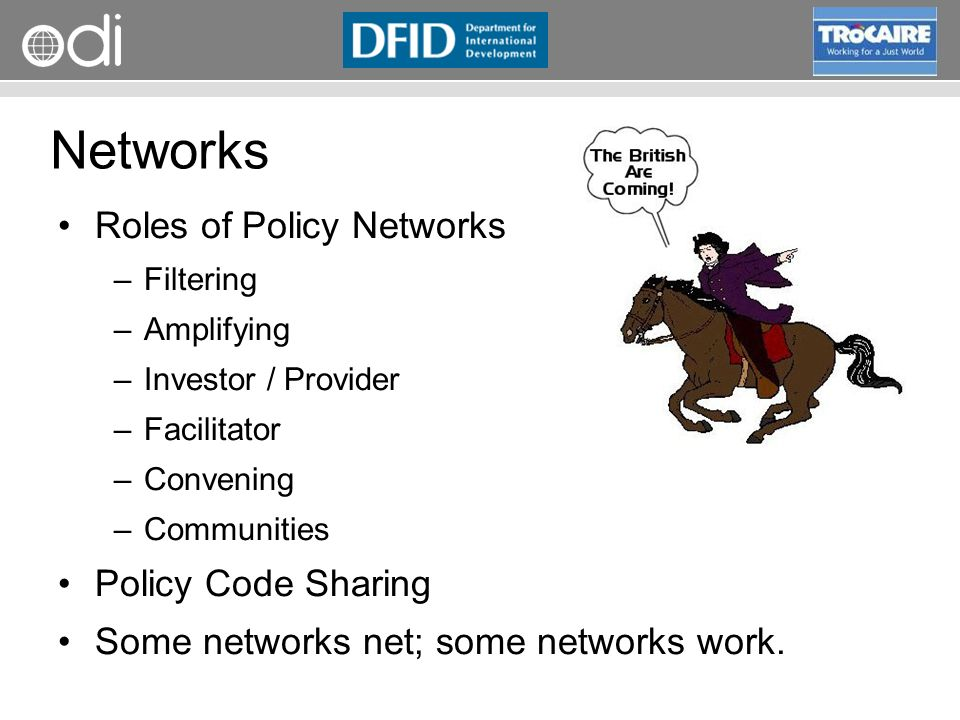 Networks Roles of Policy Networks Policy Code Sharing