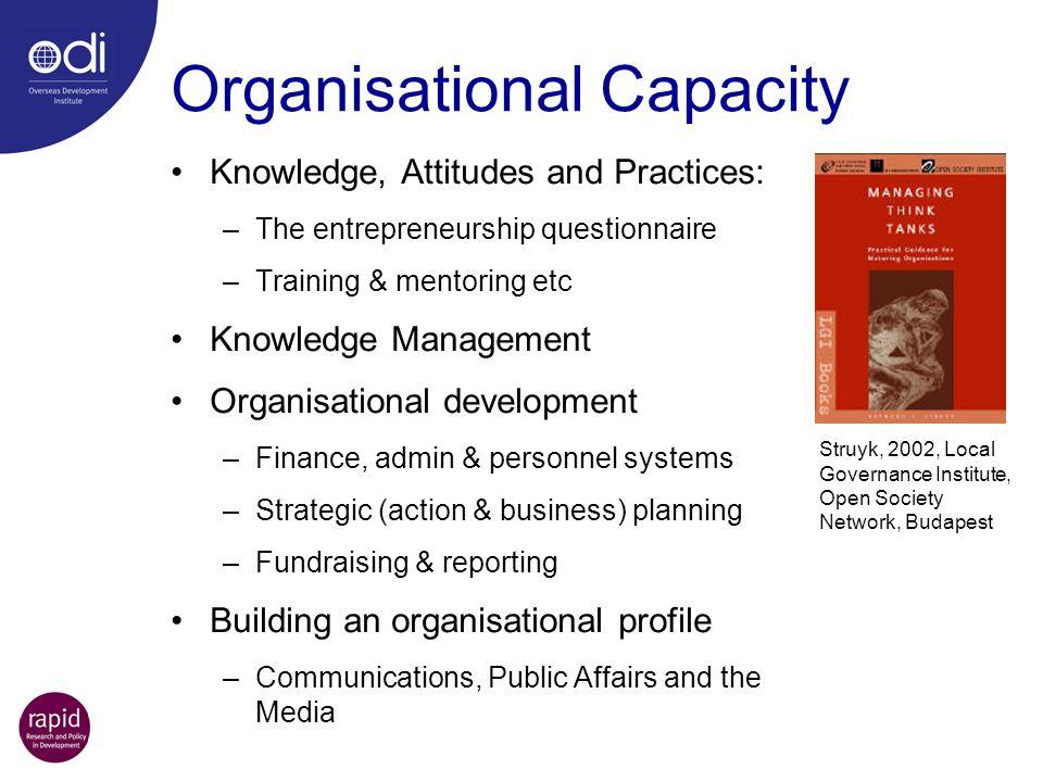 Organisational Capacity