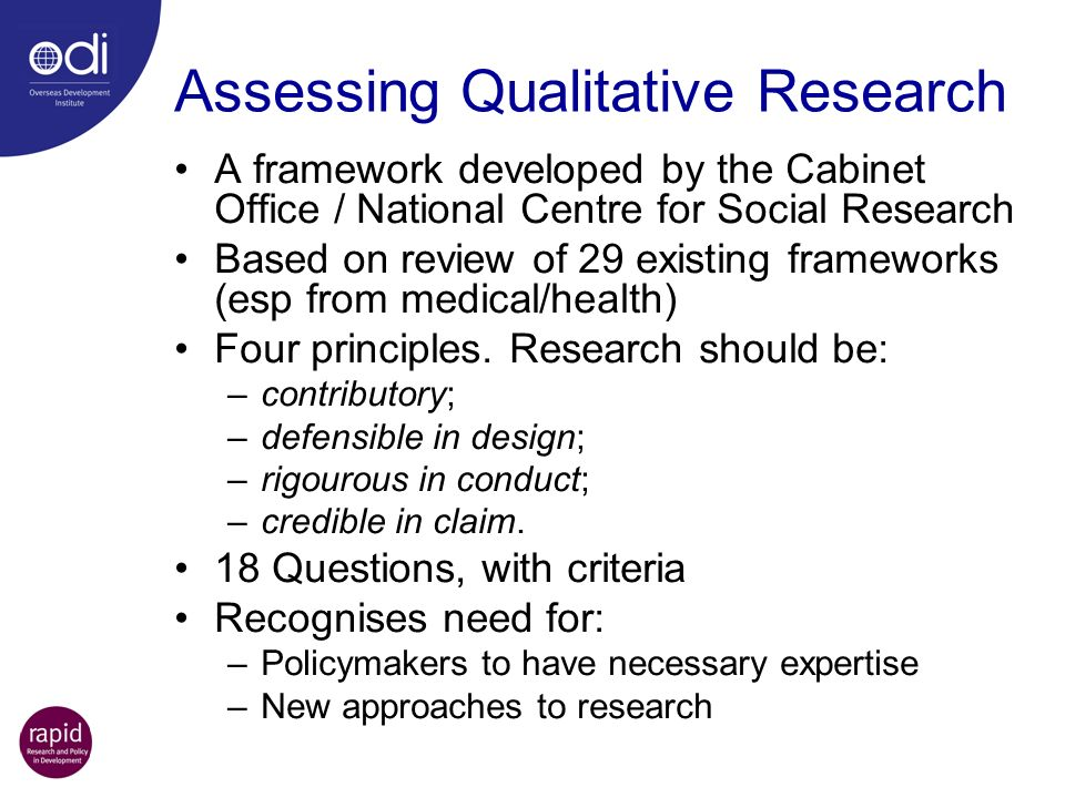 Assessing Qualitative Research