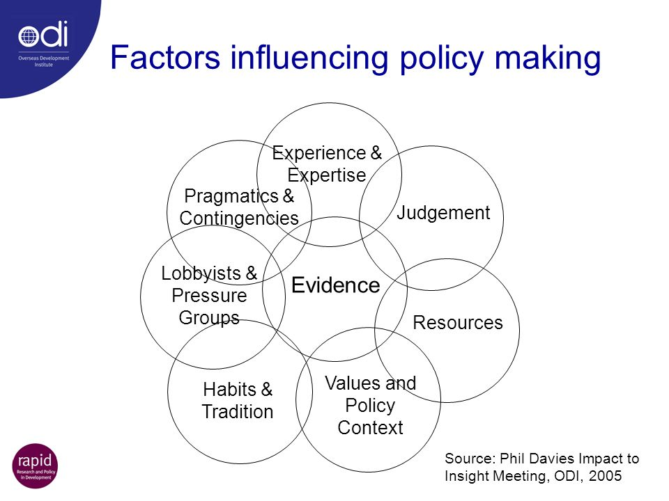 Factors influencing policy making
